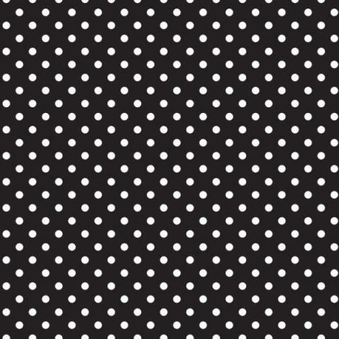 Ella Bella FADELESS CLASSIC DOTS BL AND WHT (55845) фон бумажный белый горошек 120х1500 см