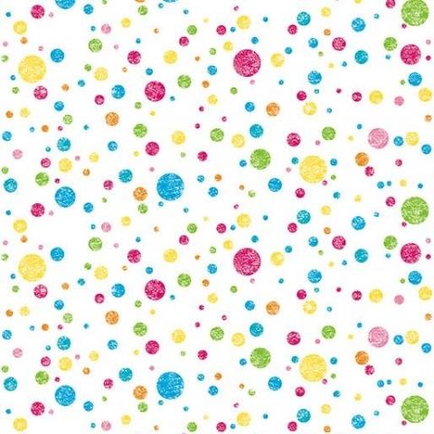 Ella Bella PHOTO BACKDROP MULTI DOTS (2508) фон бумажный разноцветные пятнышки 120х365 см