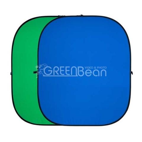 GreenBean Twist фон тканевый хромакей двухсторонний сине-зеленый на каркасе 240х240 см