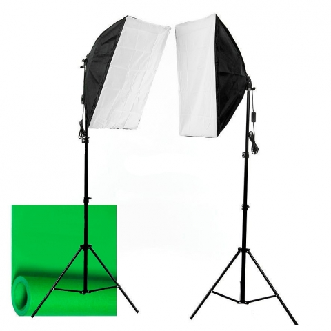 Grifon VB-224 SS комплект начинающего видеоблогера с фоном и двумя софтбоксами