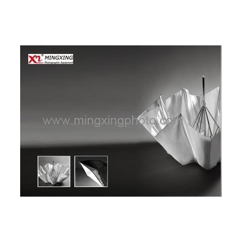 MINGXING 2-folded Black / White Umbrella 36