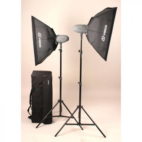 Visico VL PLUS 200 Soft Box KIT комплект импульсного света