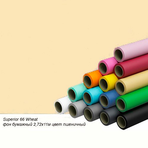 Superior 66 Wheat фон бумажный 1,35x11м цвет пшеничный