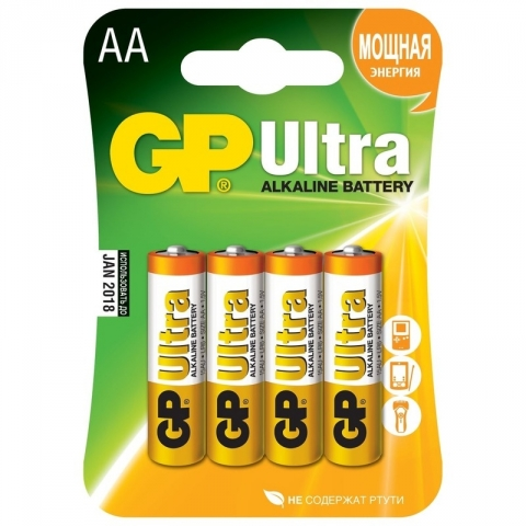 GP LR6 Ultra батарейка типа АА 4 шт. в комплекте