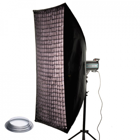 Fotokvant SB-75150HE-G софтбокс 75х150 см с сотами байонет Hensel