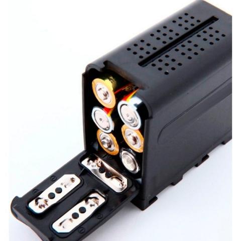 Falcon Eyes BB-6 адаптер на 6 аккумуляторов для светодиодных панелей и мониторов
