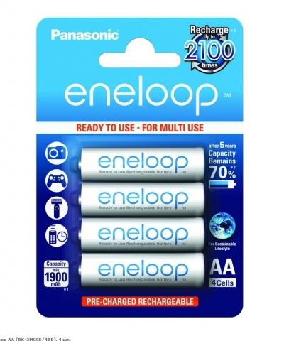 Panasonic Eneloop BK-3MCCE/4BE аккумуляторы AA 4 шт.