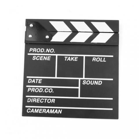 Fotokvant NVF-6815 хлопушка для кино- и видеосъемки черная 20x20 см