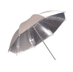 Fotokvant NVF-6882 зонт серебряный на отражение с белой внешней поверхностью 84 см
