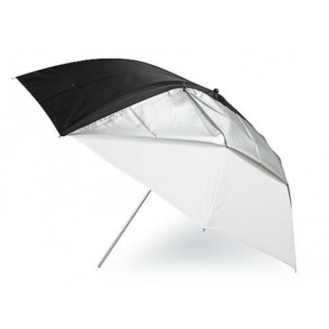 Fotokvant NVF-6890 зонт универсальный с серебряной и черной поверхностями 84 см