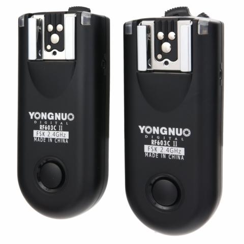 Yongnuo RF-603II C3 радиосинхронизатор для накамерных и студийных вспышек и пульт ДУ