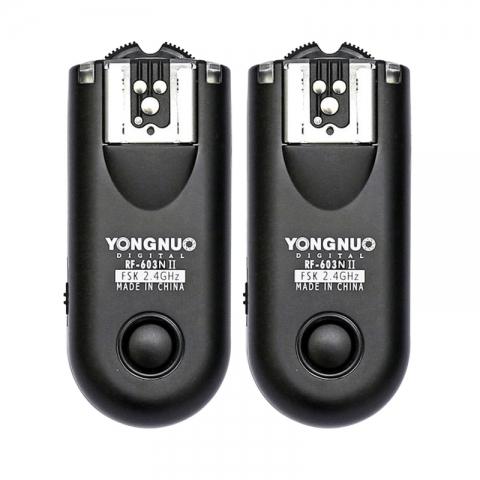 Yongnuo RF-603II N1 радиосинхронизатор для накамерных и студийных вспышек и пульт ДУ для Nikon D