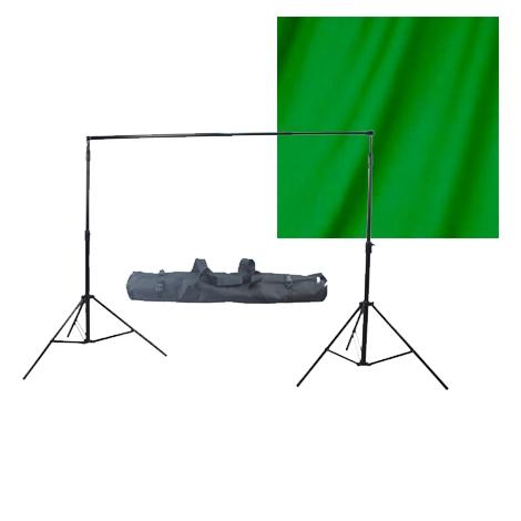 Fotokvant NVF-3234 универсальный комплект с зеленым фоном и системой установки