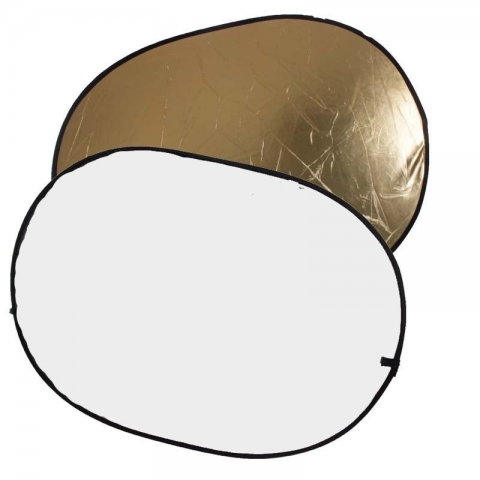 Aurora LDO 811 G/W Lite Disc oval отражатель 80х110 см золото-белый