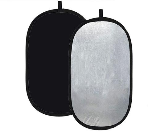 Fotokvant NVF-7333 светоотражатель серебро-черный размером 100х150 см