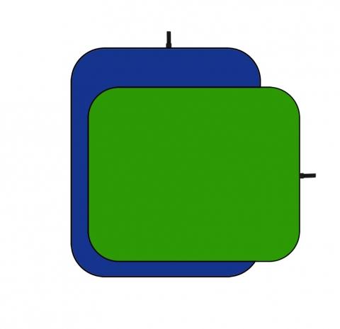 Visico BP-028 G/B складной двусторонний фон зеленый синий