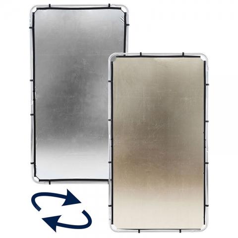 Lastolite (81234) SKYLITE Silver/Gold ткань двусторонняя золото/серебро для отражателя 110х200 см