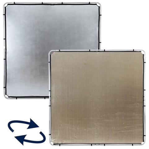 Lastolite (82234) SKYLITE Silver/Gold ткань золото/серебро для отражателя 2х2 м