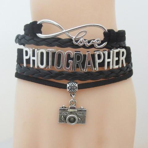 Fotokvant NVF-8260 браслет «Бесконечная любовь к фотографии» с шармом