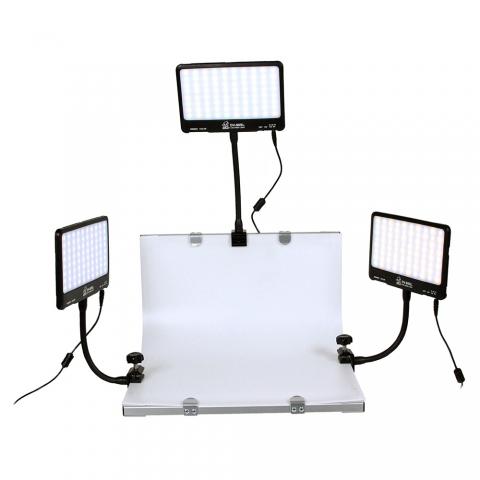 Grifon DVK-380SL фотостол с тремя осветителями на гибких штангах