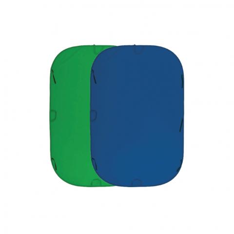 Fujimi FJ 706GB-240/240 складной фон 240х240 см хромакей синий/зеленый