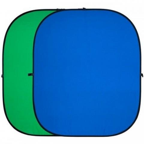 FST BP-025 складной фон 150х200 хромакей синий/зеленый