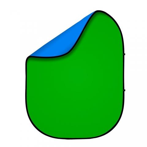 Fotokvant BG-1821 Blue Green фон тканевый складной синий-зеленый хромакей 1,8х2,1 м