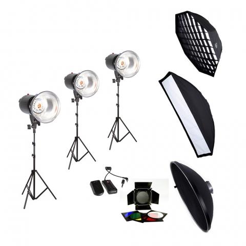 Fotokvant PRO-600  STUDIO универсальный комплект света для профессиональной студии