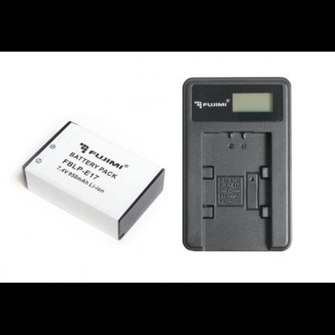 Fujimi FBLP-E17 950 mAh + FJ-UNC-LPE17 аккумулятор для фото- и видеокамер и зарядное устройство