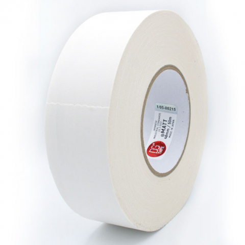 DGTape MATT Gaffa Tape White тейп матовый белый 48 мм x 50 м