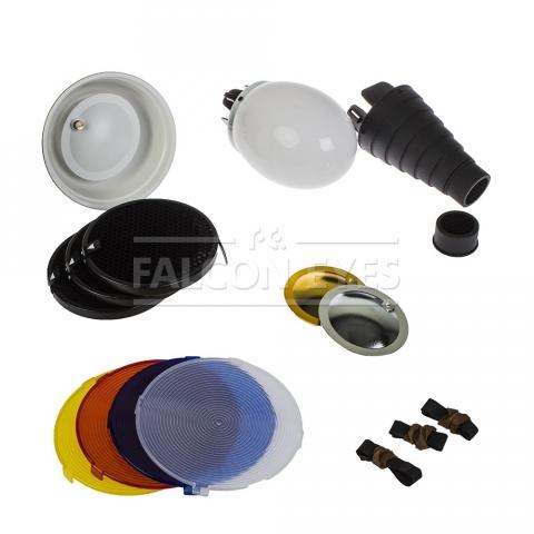 Falcon Eyes FGA-K8 комплект насадок для накамерных вспышек